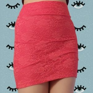 Lacey Red orange skirt from Charlotte Russe